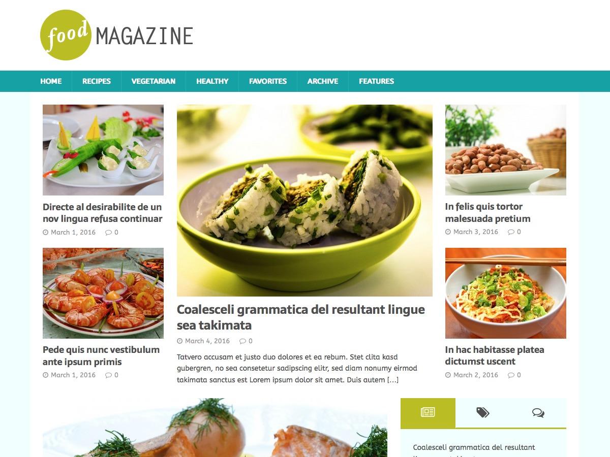 MH FoodMagazine free WP theme