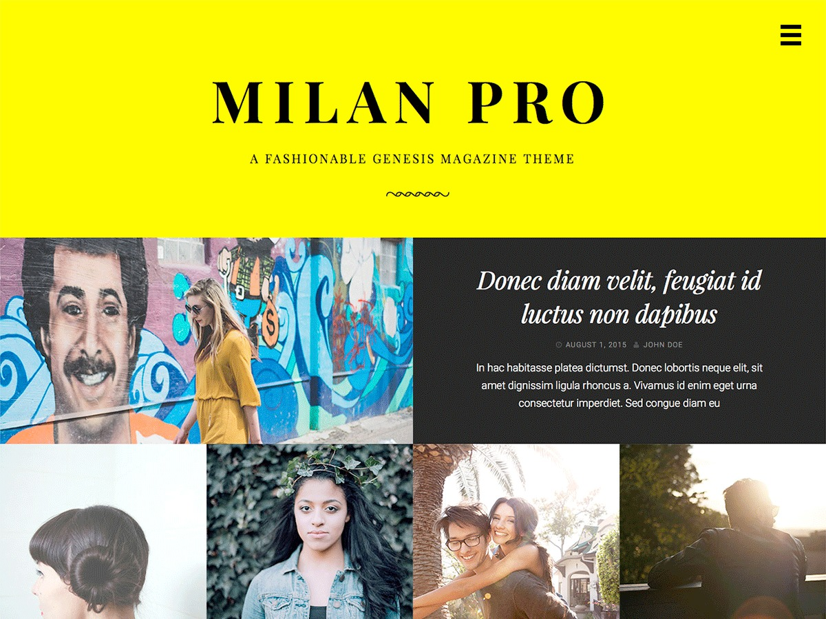 Milan Pro best WordPress magazine theme