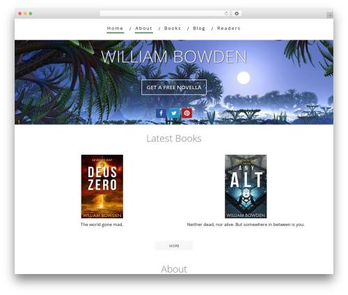 Minus WordPress template - williambowden.com