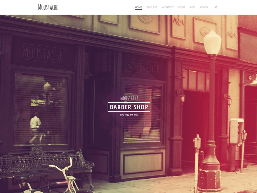 Moustache WordPress page template