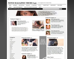 News Magazine Theme 640 WordPress blog theme