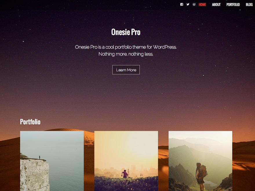Onesie Pro WordPress portfolio template