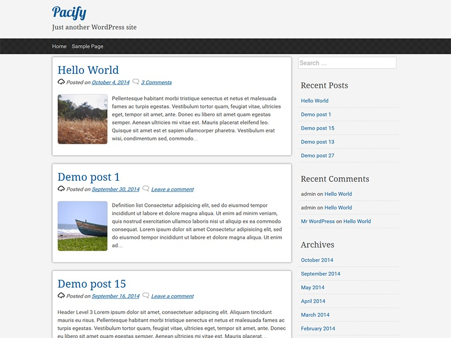 pacify WordPress theme download