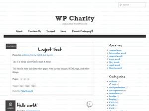 Paper WordPress blog template