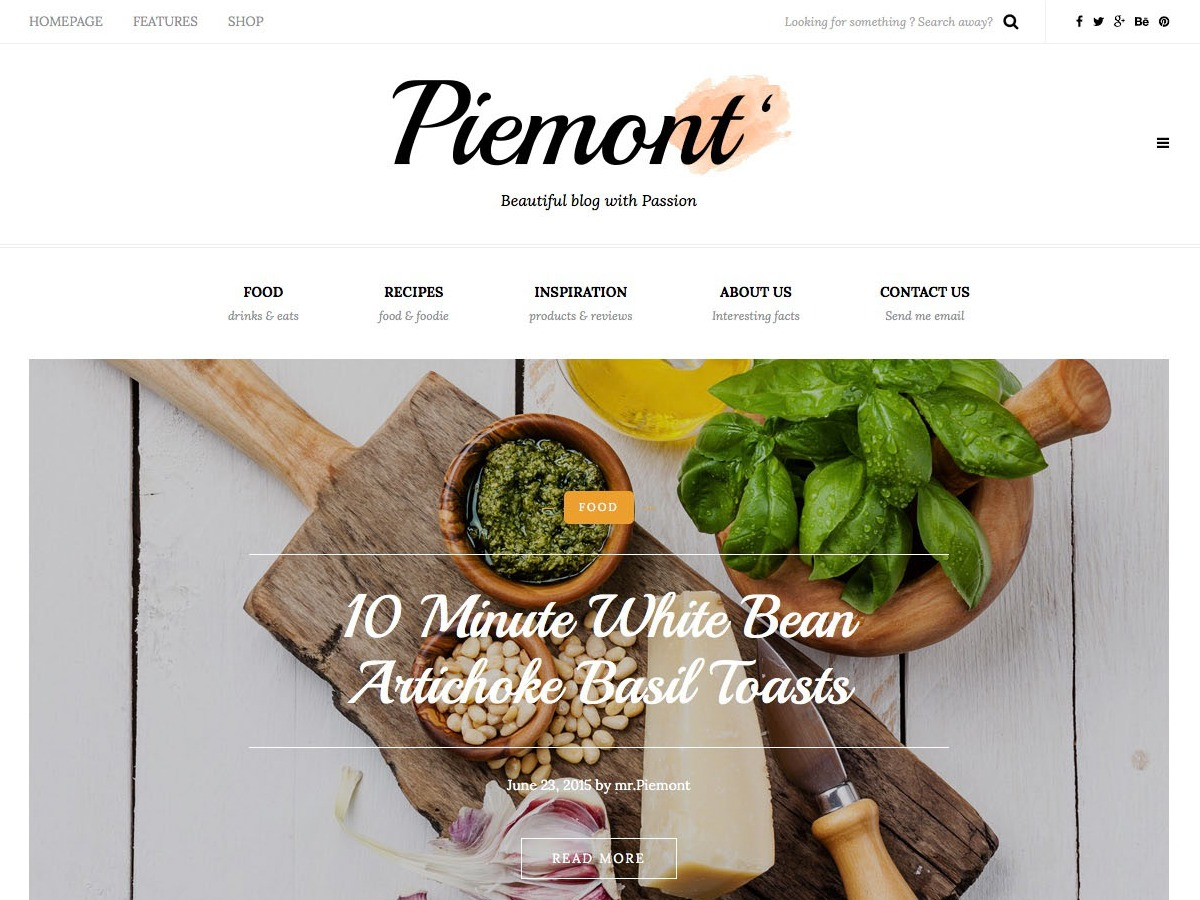 Piemont WordPress blog template