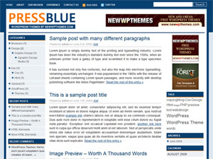 Press Blue WordPress page template