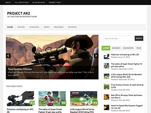 Project AR2 WordPress page template