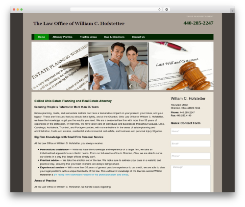 Project X v102 WordPress page template - williamhofstetter.com