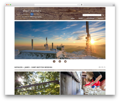 ProPhoto WordPress template for photographers - whithaynes.com