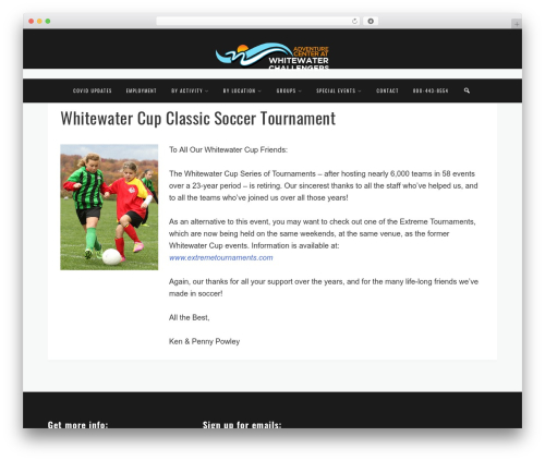 Ragnar WP theme - whitewaterchallengers.com/soccer
