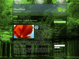 Rainforest free website theme