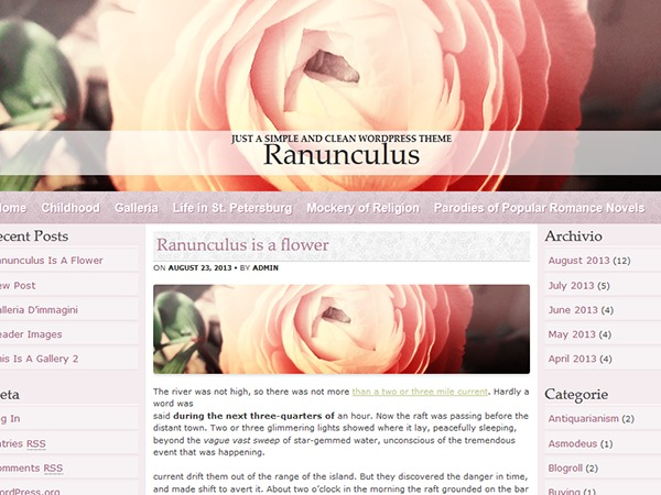Ranunculus WordPress theme image