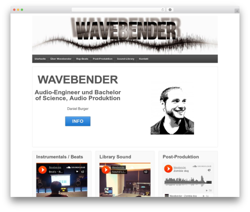 Responsive free WordPress theme - wavebender.de