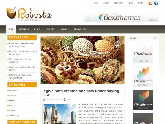 Robusta food WordPress theme