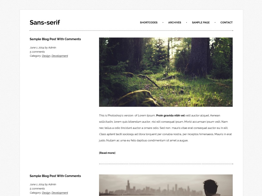 Sans-serif WordPress website template