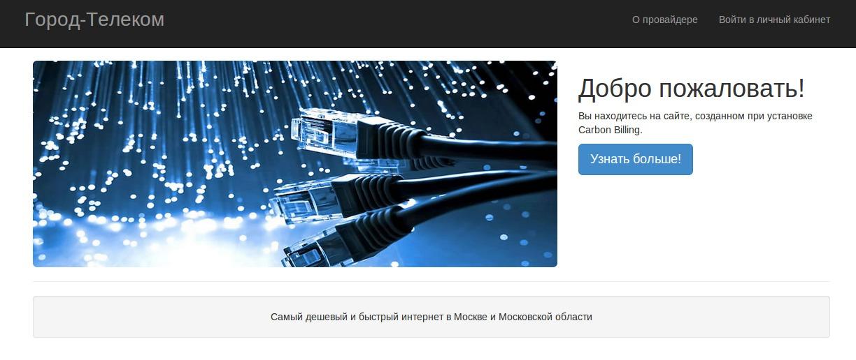 Сайт интернет-провайдера WordPress website template
