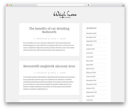 Sean Lite WordPress template free - weightlosssafe.co.uk