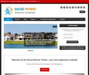 Social Review Theme WordPress theme