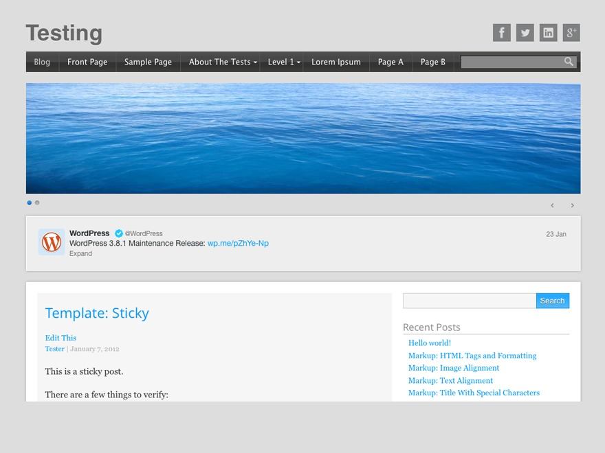 Startup template WordPress free