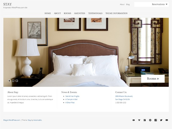 Stay WordPress hotel theme