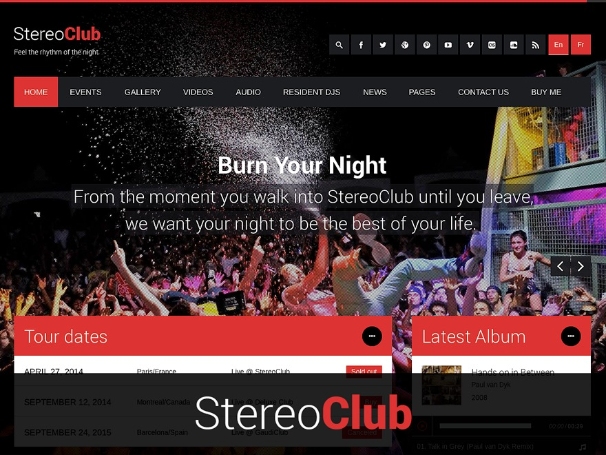 StereoClub WordPress template