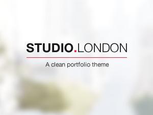 Studio London WordPress portfolio template