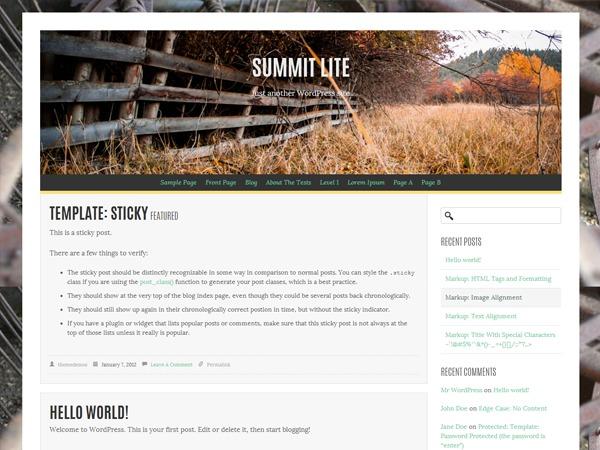 Summit Lite WordPress blog theme