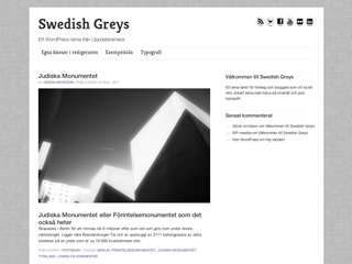 Swedish Greys WordPress blog template