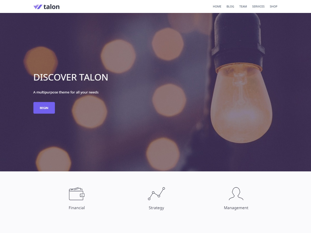 Talon WordPress theme free download