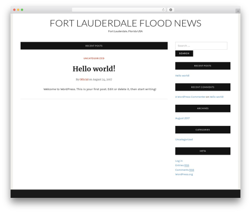 Telegraph free WordPress theme - waterdamagefortlauderdale.info