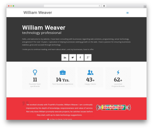Template WordPress Betheme - william-weaver.com