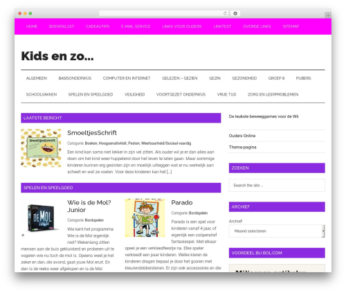 Template WordPress Magazine Pro Theme - weblog-kidsenzo.nl