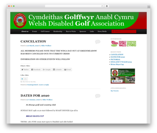 Template WordPress Twenty Eleven Child with Sidebar Support - welshdisabledgolf.org.uk