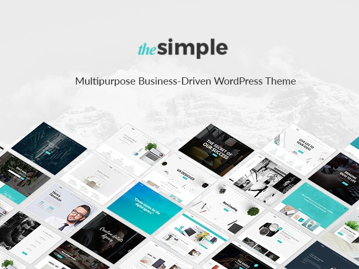 The Simple company WordPress theme