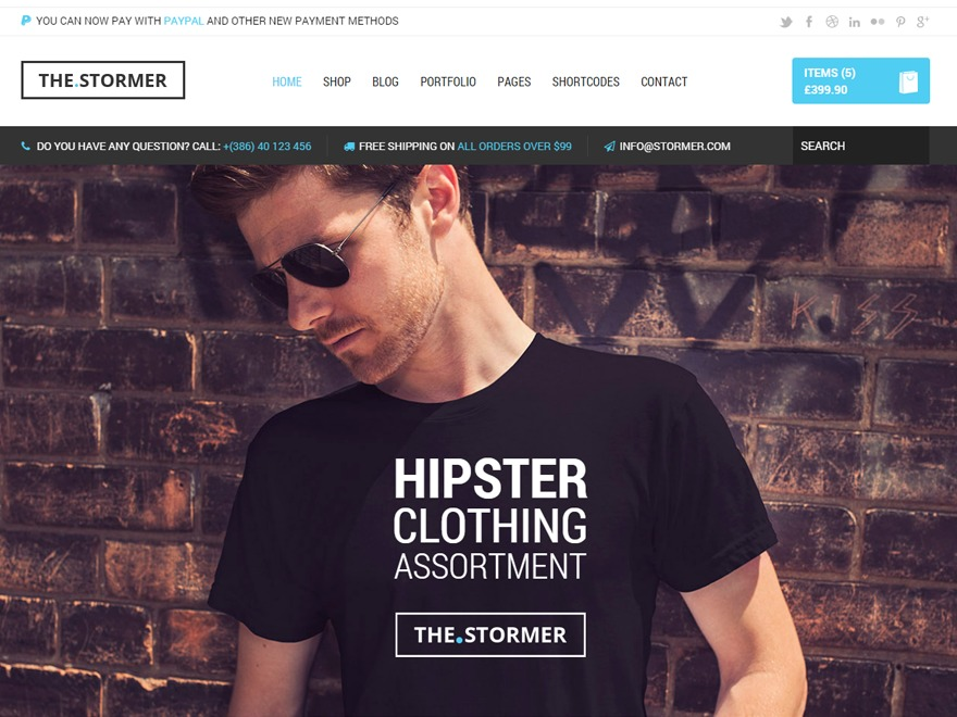The Stormer - Wordpress Theme template WordPress
