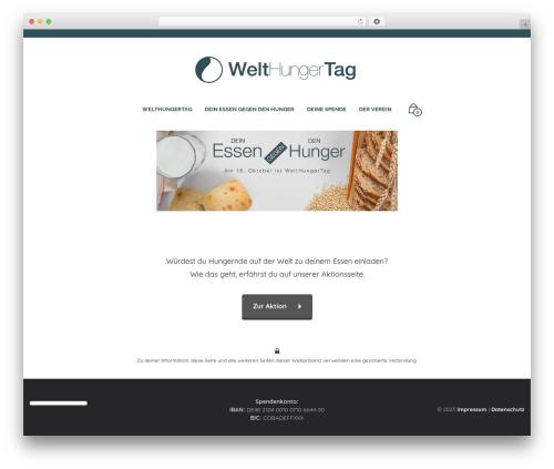 Theme WordPress Mr. Tailor - welthungertag.de