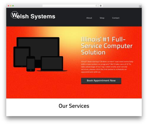 ThemeAlley.Business.Plus business WordPress theme - welshsystems.com