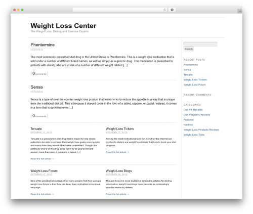 Thesis WordPress website template - weightlosscenter.org