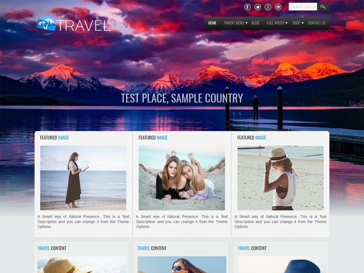 Travel Lite WordPress free download
