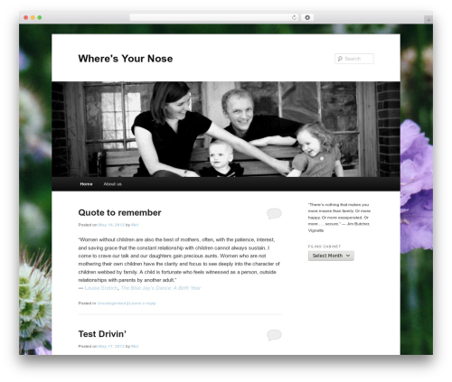 Twenty Eleven WordPress free download - wheresyournose.com