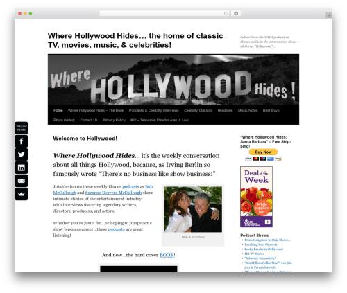 Twenty Ten business WordPress theme - wherehollywoodhides.com