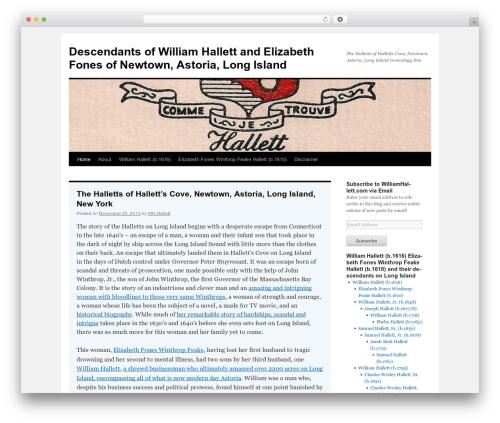 Twenty Ten free WordPress theme - williamhallett.com
