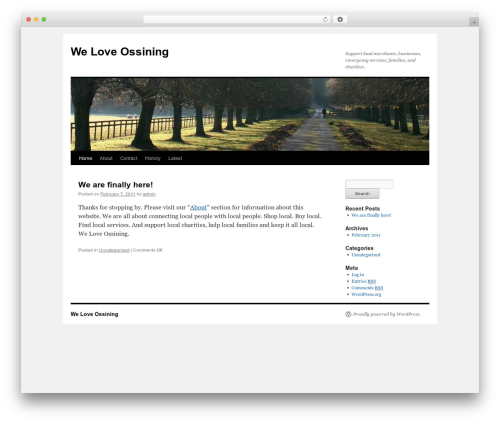 Twenty Ten WordPress theme - weloveossining.com