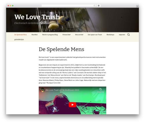 Twenty Thirteen best free WordPress theme - welovetrash.nl