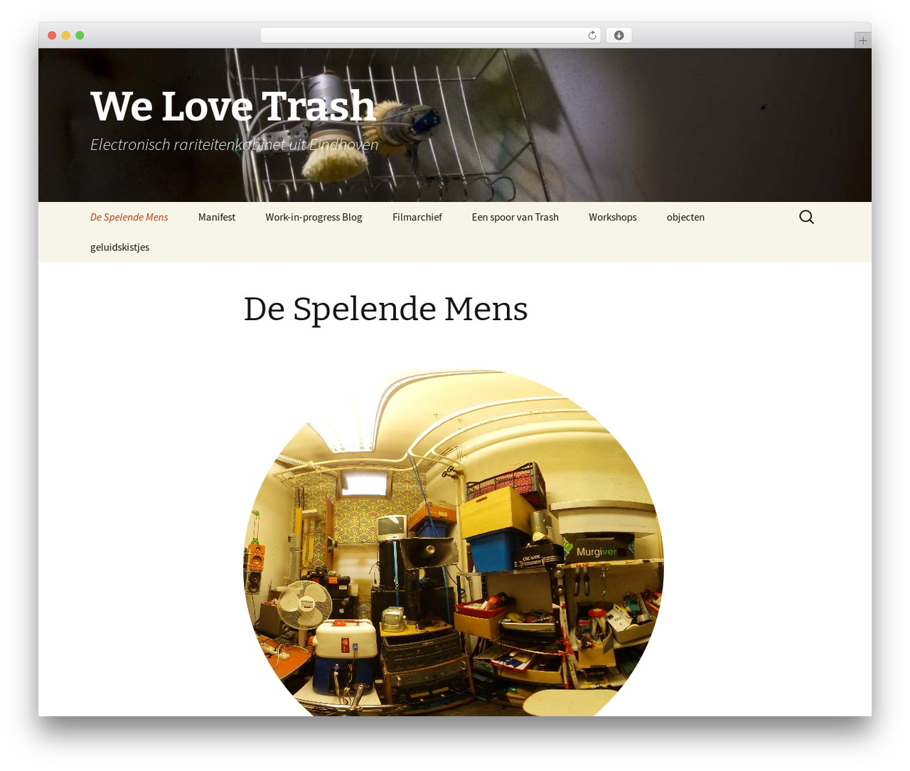 Twenty Thirteen best free WordPress theme - welovetrash.nl