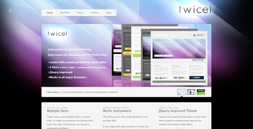 Twicet business WordPress theme