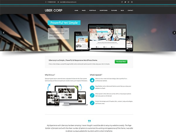 Ubercorp theme WordPress