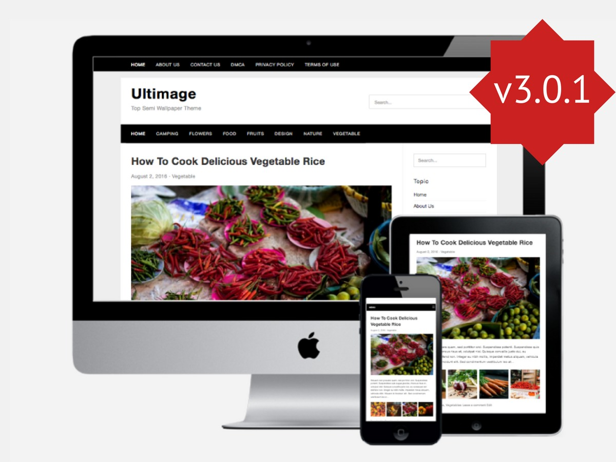 Ultimage WordPress blog theme