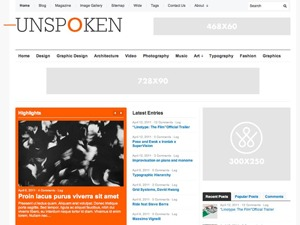 Unspoken newspaper WordPress theme