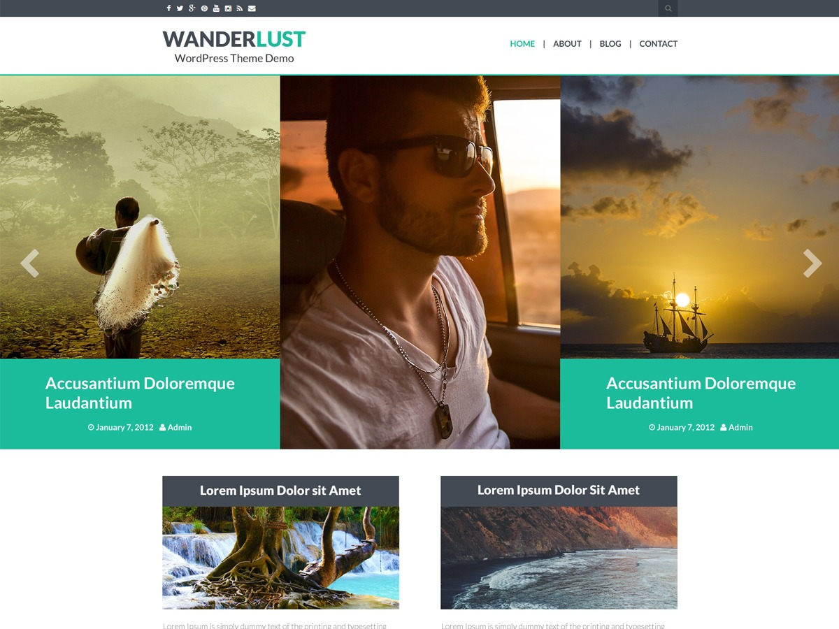Wanderlust WordPress template free download